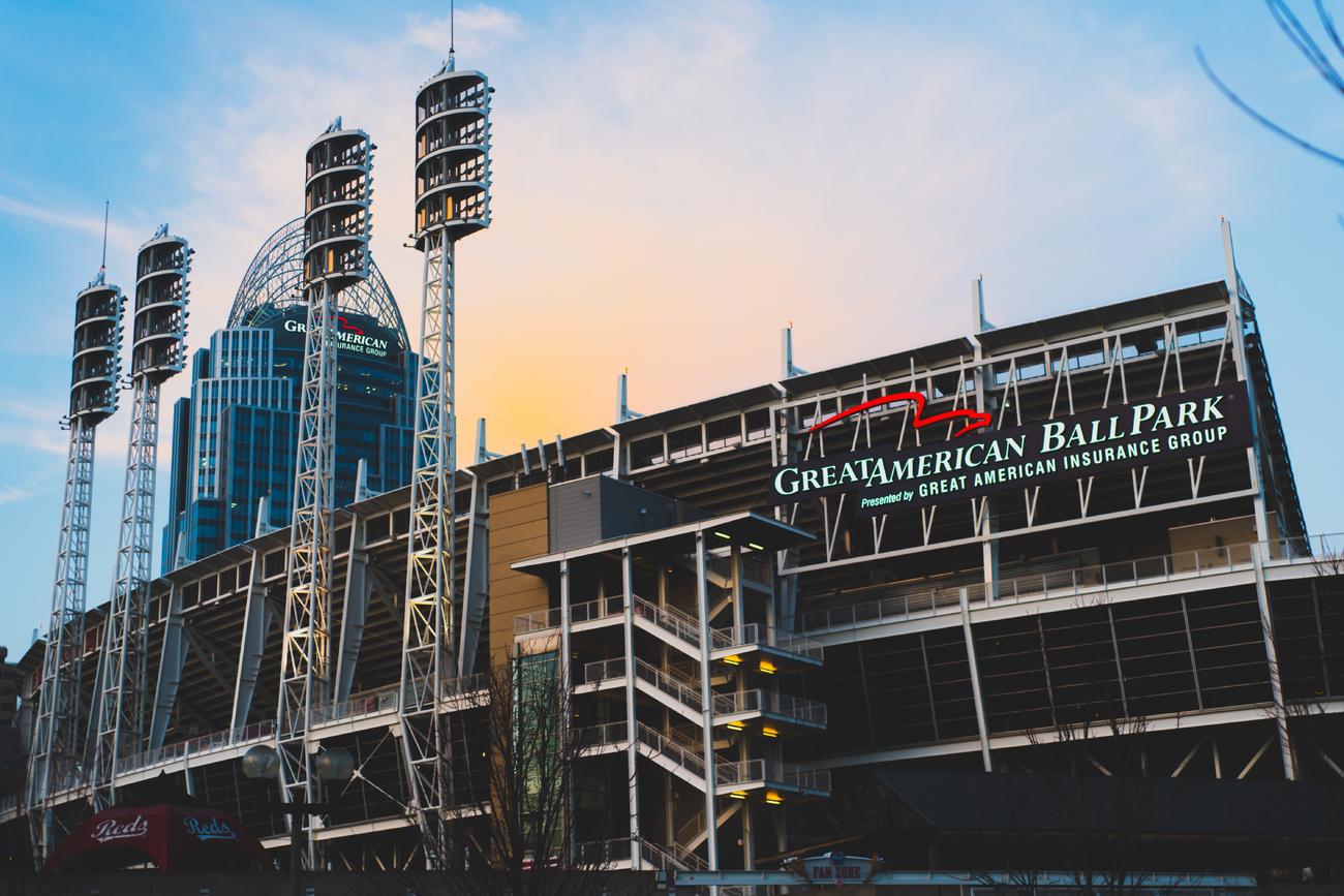 Great American Ballpark at Sunset